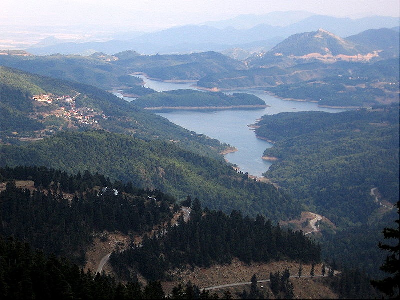 View of Lake Plastiras in Greece
