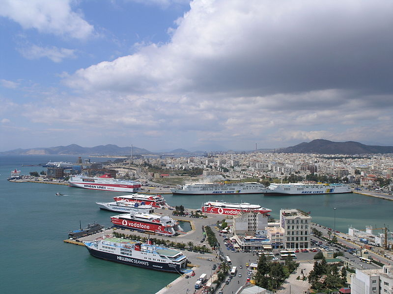Panoramic view of Piraeus Port