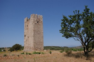 Vravrona Signal Tower, one of the few fortification works remaining from the Frankish rule in the Mesogeia region