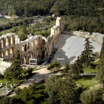 Oden of Herodes Atticus, View of the theatre from the Acropolis