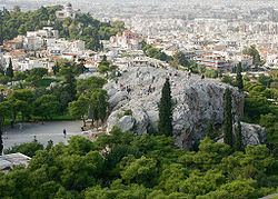 Areopagus from the Acropolis, Athens, Greece