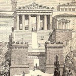 19th century drawing of what the Propylaea might have looked like when intact