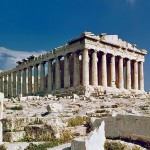 The Parthenon on Acropolis in Athens