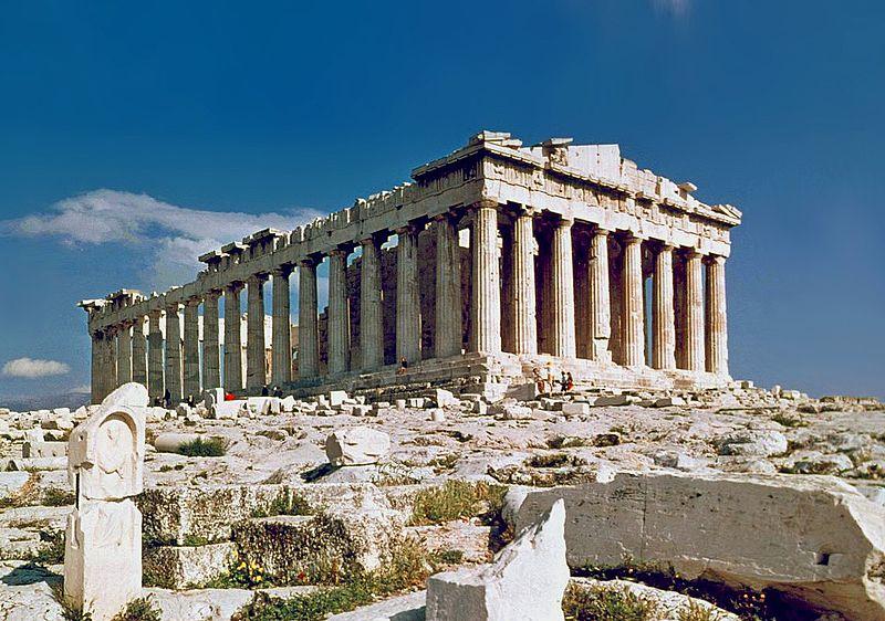 The Parthenon on Acropolis in Athens