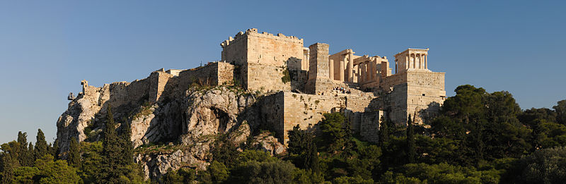 Acropolis, panoramic view from Areopagus hill, Athens, Greece