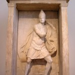 Grave shrine from Kerameikos - Aristonautes as warrior - c. 330-310 BC marble h. 2.91m
