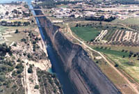 Canal of Corinth in Greece