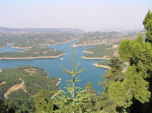 Lake Plastiras near Karditsa in Greece