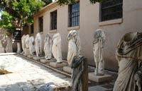 Statues outside the museum in Corinth, Greece