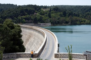 Lake Marathon Dam, Greece