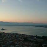 View of the old part of the city of Nafplio from Palamidi castle