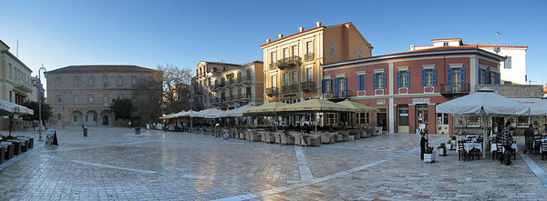 Plateia Syntagmatos (Constitution Square) in Nafplion, Greece
