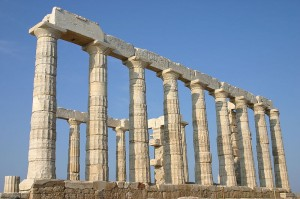Temple of Poseidon at Cap Sounion, Greece