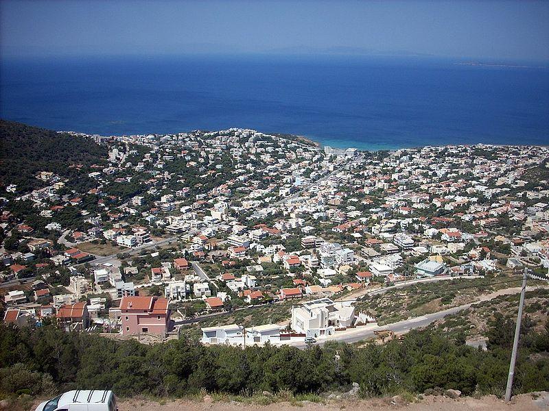 View on Saronida, Attica, Greece