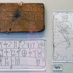 A clay tablet from Mycenae, with writing in Linear B