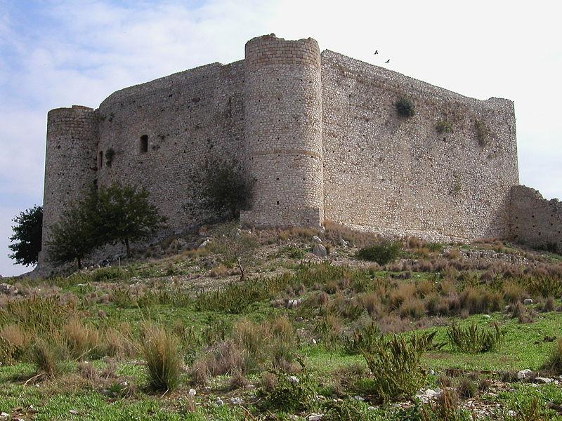 The inner part of Clemoutsi castle, Kastro-Kyllini, Peloponnese Greece
