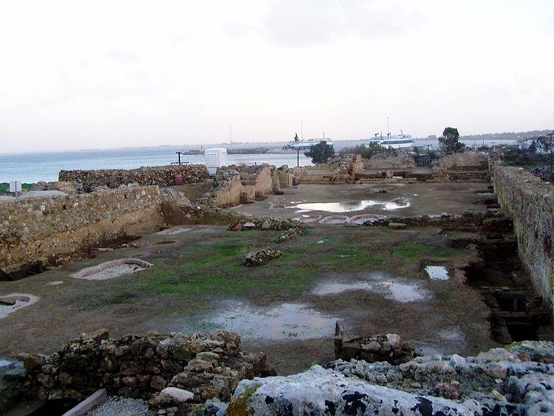 Glarentza Fort in Kyllini, Greece