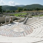 View of the Odeon in ancient Messene