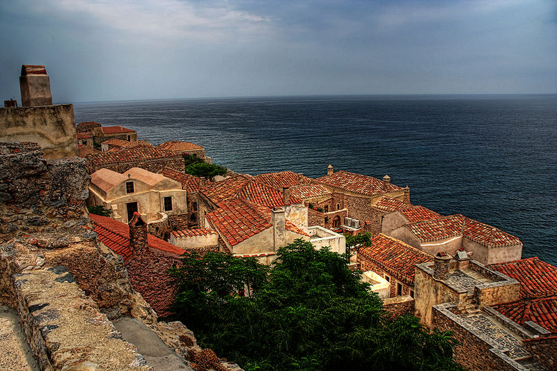 View of Monemvasia, Greece