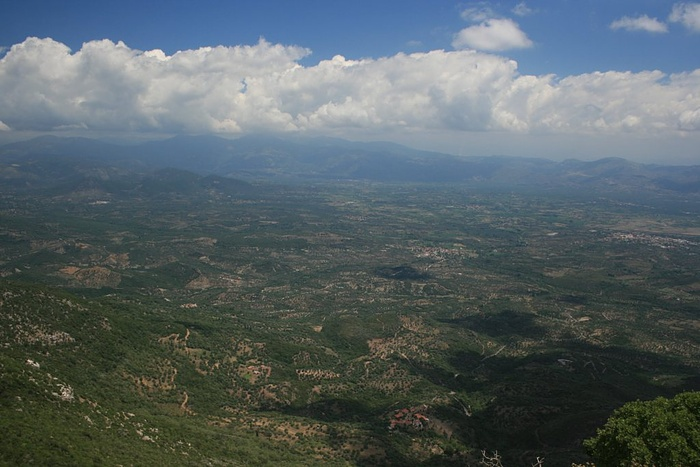 Messenia seen from Mount Ithome