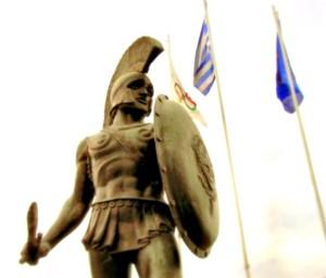 Leonidas statue, Sparta
