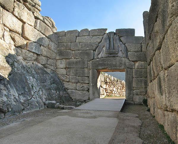 Lions Gate, Mycenae, Peleponnese, Greece