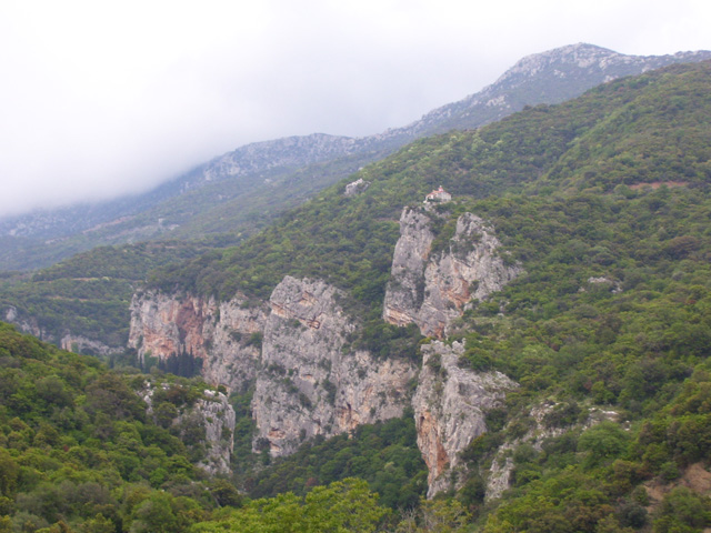 Lousios gorge at the mountain range Mainalo in Arcadia, Greece