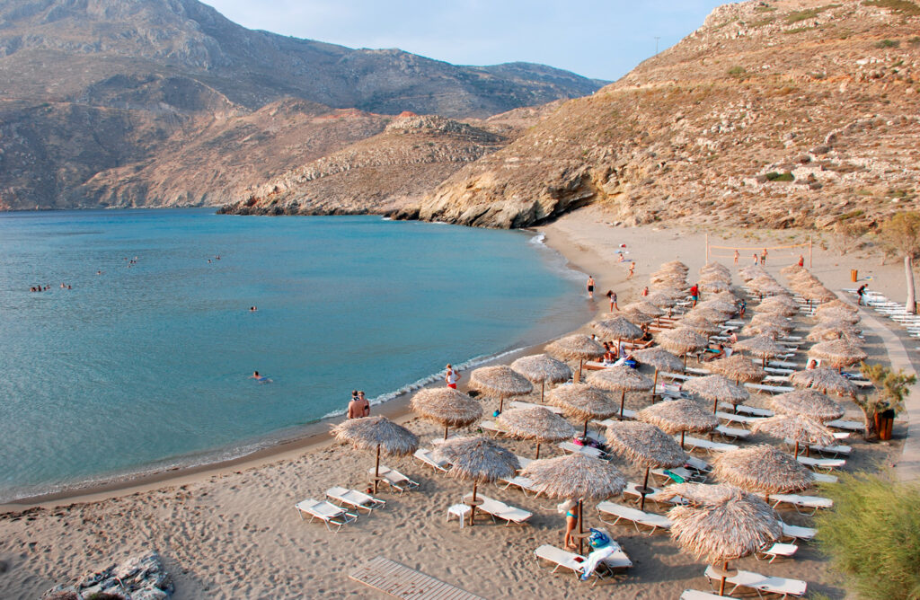 Marmari beach at Mani region at the Peloponnese in Greece