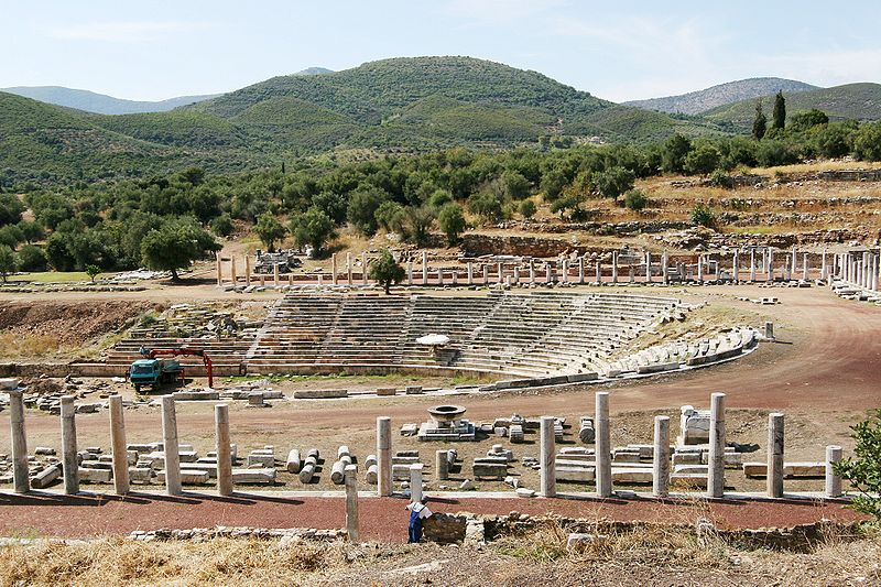 The ancient Stadion in Messene