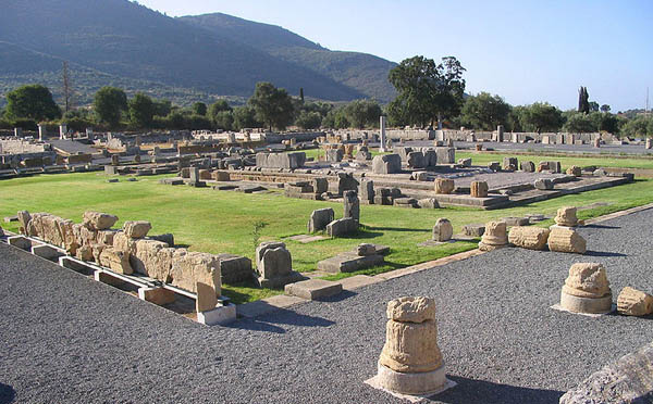 View of the ancient Asclepeion in Messene