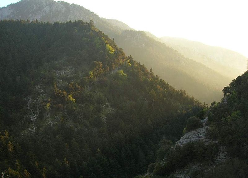 Mount Taygetus in Peloponnese
