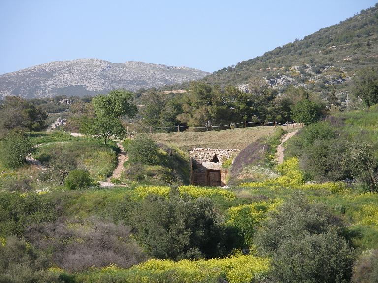The Tomb of Aegisthus outside the walls of the citadel in Mycenae