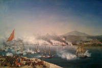 The Naval Battle of Navarino by Ambroise Louis Garneray