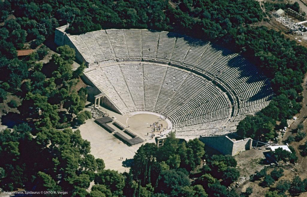 Epidaurus Peloponnese, ancient amfitheatre, Greece