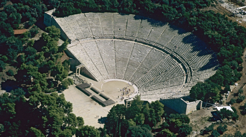 Epidaurus Peloponnese, ancient amfitheatre, Greece