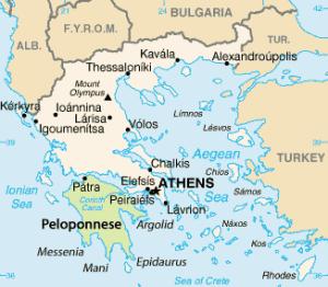 Peloponnese map