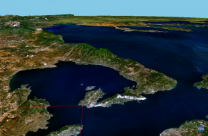 Pelion from satelite