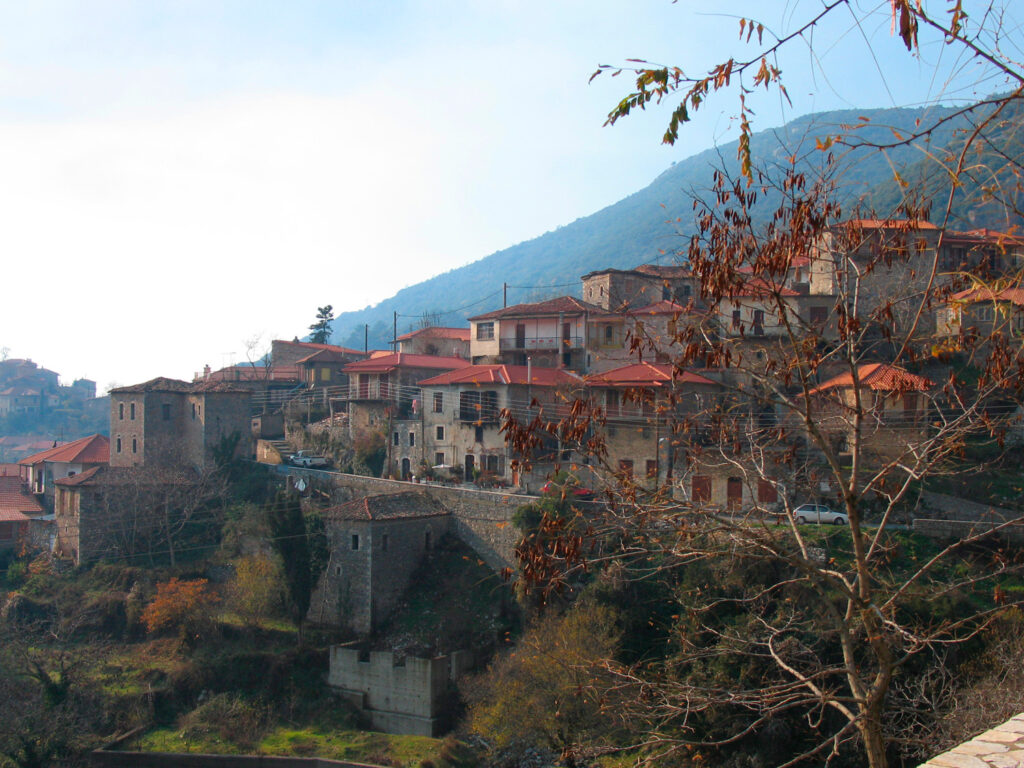 The famous village of Dimitsana with traditional character, Arcadia, Peloponnese, Greece