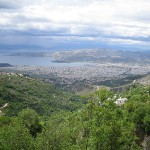 View of Volos from Pelion, Greece