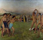 Young Spartans Exercising by Edgar Degas (1834-1917)