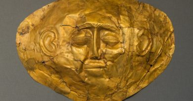 Gold mask, Mycenae, Greece