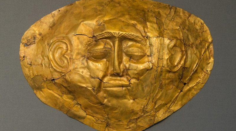 Gold mask, Mycenae, Greece