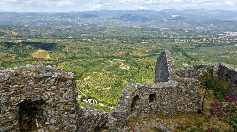 Ancient ruins of Mystras, Peleponnese