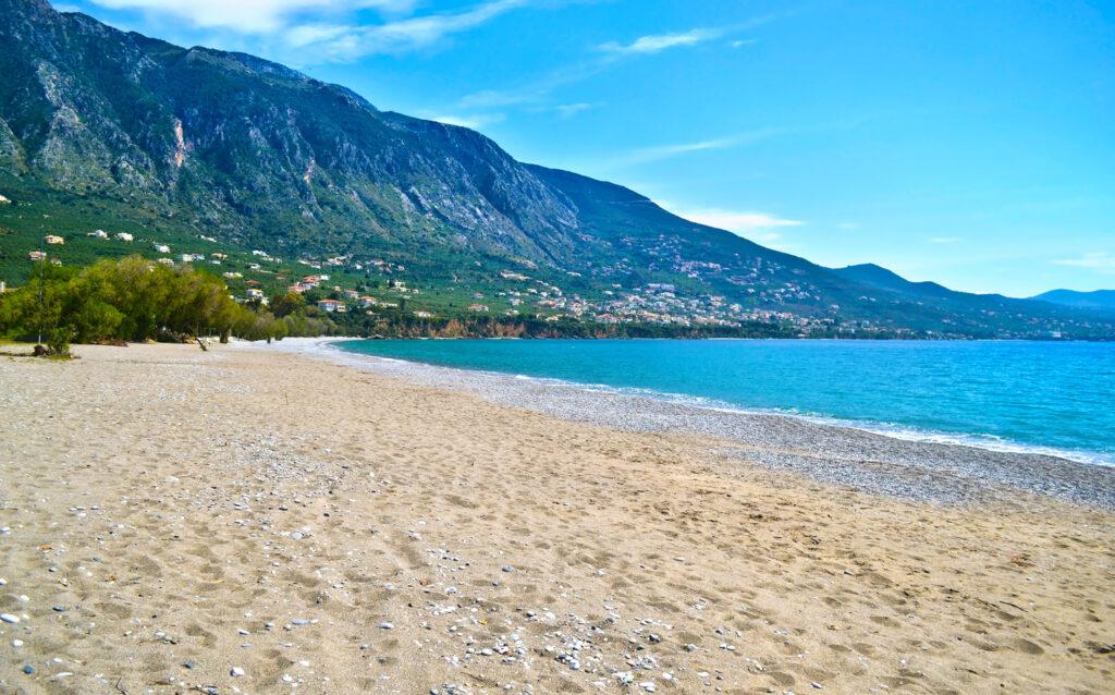 Verga beach near Kalamata, Messinia, Peloponnese Greece