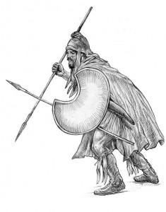 Thracian peltast, 5th–4th century BC