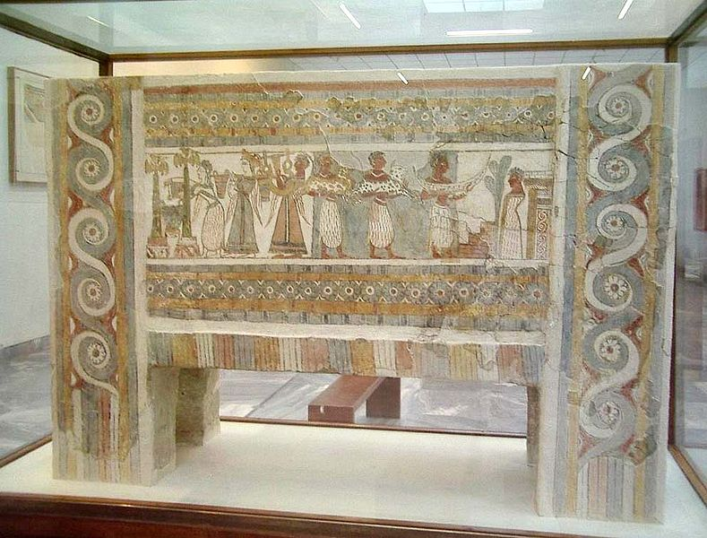 The famous sarcophagus from Hagia Triada, Archaeonogical Museum of Crete