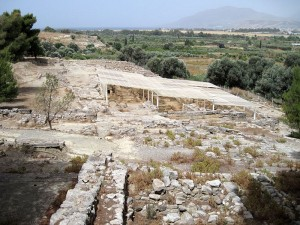 Archaeological site of Agia Triada, in South Crete, Greece