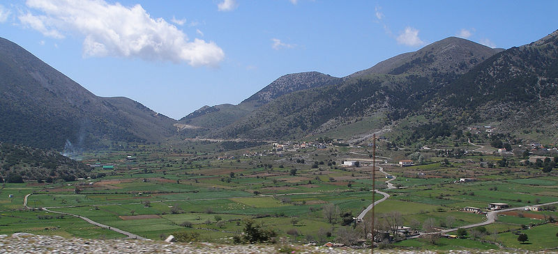 The Askifou plateau in the Lefka Ori mountains in Crete