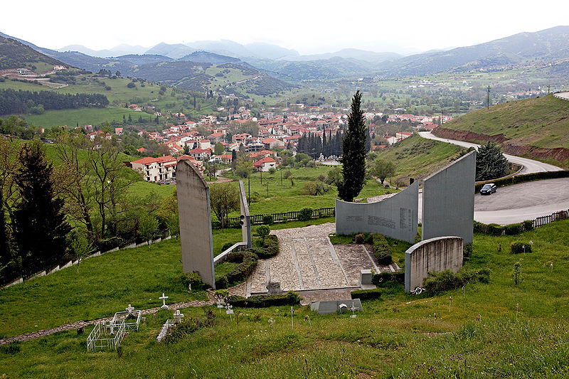 Kalavryta, as seen from the memorial site
