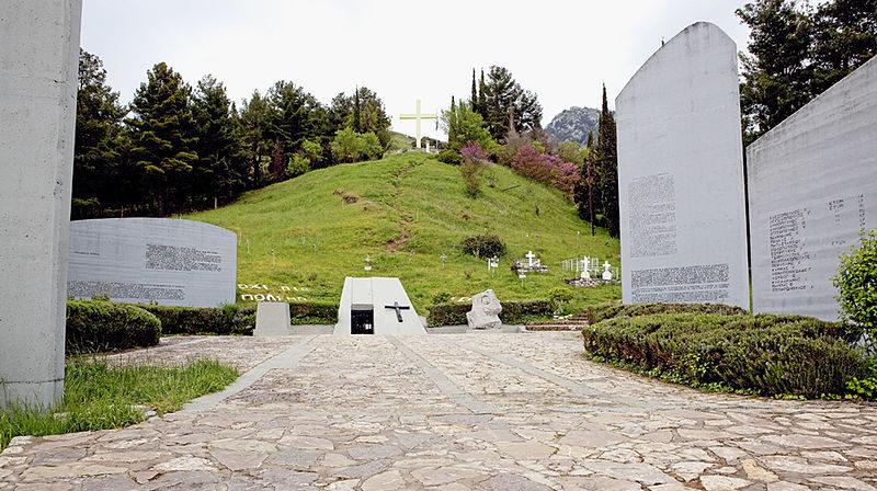 The memorial site in Kalavryta, Greece